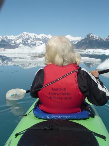 Extreme beauty, not extreme paddling! Columbia Glacier