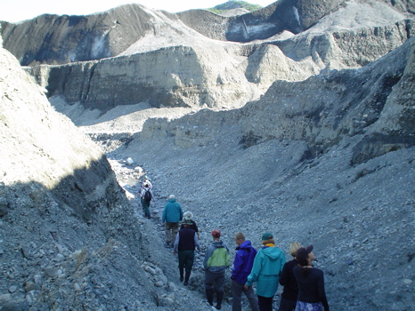 Not just paddling! Hiking opportunities abound on our daytrips too. Shoup Glacier