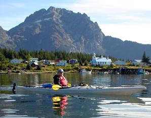 Kayaking off Ellamar, Alaska