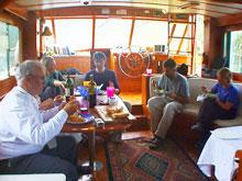 Dinner aboard Ruffinit.